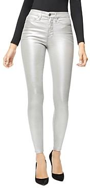 Good American Good Waist Metallic Jeans in Silver003