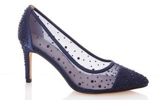 Dorothy Perkins Womens Quiz Navy Mesh Court Shoes