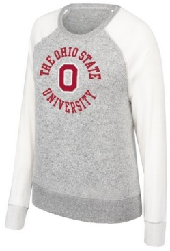 Top of the World Women's Ohio State Buckeyes Off Duty Cozy Crew Sweatshirt