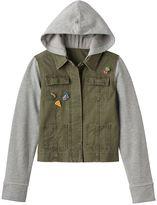 Mudd Girls 7-16 & Plus Size Knit Utility Jacket