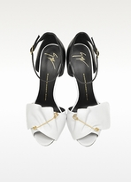 Giuseppe Zanotti Black and White Pin Sandal