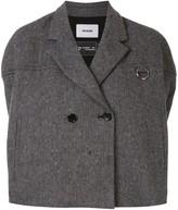 we11done herringbone cape coat
