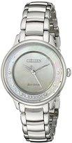 Citizen Eco-Drive Women's EM0380-81N Circle of Time Silver-Tone Watch