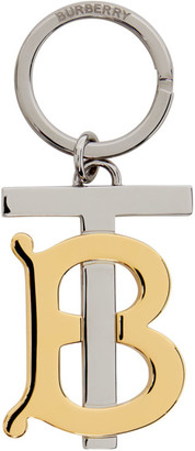 Burberry Gold and Silver Monogram Keychain