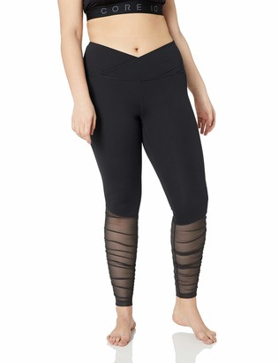 Core 10 Amazon Brand Women's Standard Icon Series Ballerina Yoga Mesh Legging-28