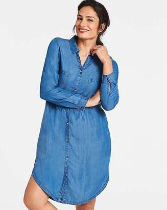 Capsule Blue Soft Tencel Denim Smock Shirt Dress