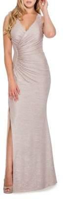 Decode 1.8 Metallic Jersey Mermaid Gown