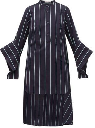 Palmer Harding Palmer//Harding Palmer//harding - Echo Open-cuff Striped Cotton Shirt - Womens - Blue