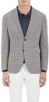 Luciano Barbera MEN'S CHECKED WOOL-BLEND TWO-BUTTON SPORTCOAT