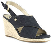 G By Guess Denim Espadrille Wedge Sandals
