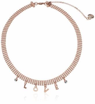 BCBGeneration BCBG Generation Women's Love Affirmation Charm Frontal Mesh Necklace