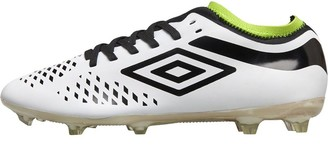 Umbro Junior Velocitia IV Premier FG Football Boots White/Black/Acid Lime