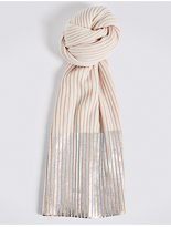 M&S Collection Foil Contrasting Edge Scarf