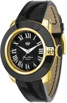 Glam Rock Women's Sobe 44mm Leather Band Gold Plated Case Swiss Quartz Analog Watch GR32025