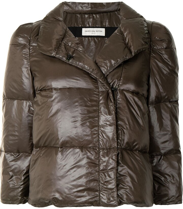Dries Van Noten Pre-Owned Cropped Puffer Jacket