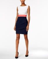 Connected Petite Tiered Colorblocked Sheath Dress