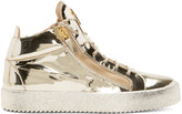 Giuseppe Zanotti Gold High-top Sneakers