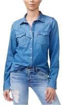 Levi's Womens Vintage Denim Button Up Shirt blue XL