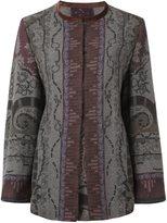 Etro open front coat - women - Cotton/Polyamide/Spandex/Elastane/Alpaca - 42