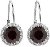 Gem Stone King Smoky Color Round Stone Cubic Zirconia 925 Sterling Silver Dangle Earrings