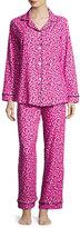 BedHead Demi-Ball Dotted Classic Pajama Set, Fuchsia/Black