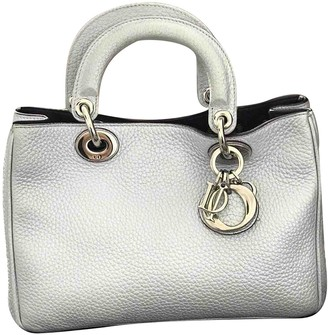 Christian Dior Diorissimo Silver Leather Handbags