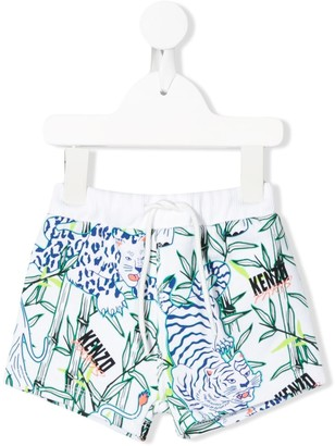Kenzo Kids Tropical-Print Shorts