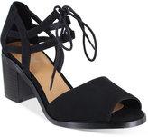 Mia Luella Two-Piece Block-Heel Sandals