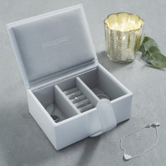 The White Company Leather Travel Jewellery Box, White, One Size