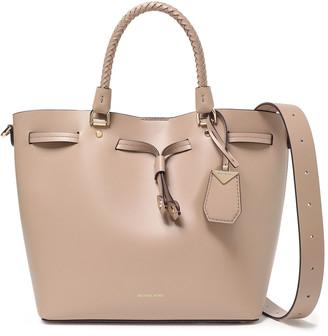 MICHAEL Michael Kors Blakely Braid-trimmed Leather Shoulder Bag