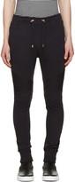 Balmain Navy Ribbed Knee Lounge Pants