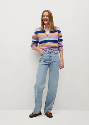 MANGO Multicolour knit cardigan
