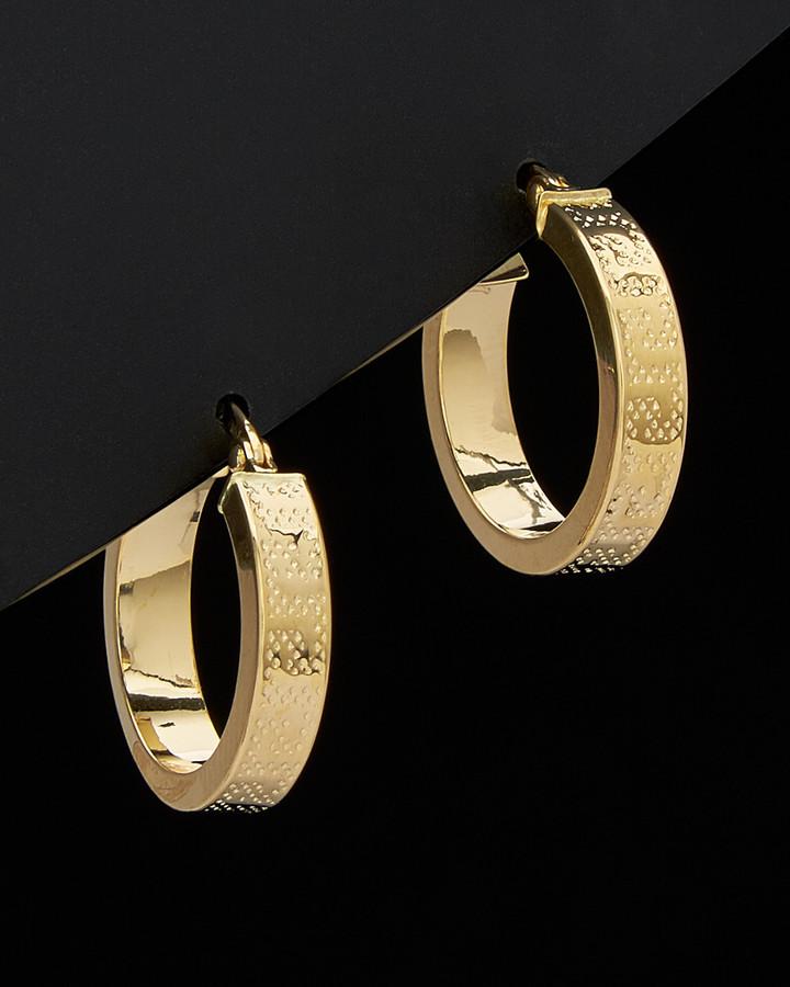 867f923dcc256 18K Greek Key Hoop Earrings