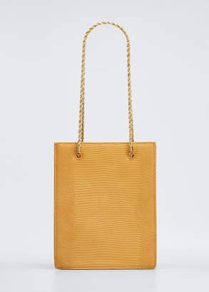 Loeffler Randall Antoinette Lizard-Print Chain Tote Bag