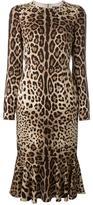 Dolce & Gabbana leopard print dress - women - Silk/Spandex/Elastane - 40