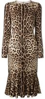 Dolce & Gabbana leopard print dress - women - Silk/Spandex/Elastane - 46