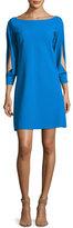 La Petite Robe di Chiara Boni Tony Slit-Sleeve Cocktail Dress, Blue
