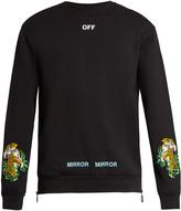 Off-White Tiger-embroidered cotton sweatshirt