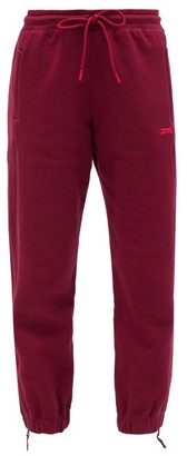 Reebok x Victoria Beckham Drawstring-waist Cotton Track Pants - Burgundy