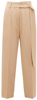 Petar Petrov Hilary Cropped Virgin-wool Twill Trousers - Nude