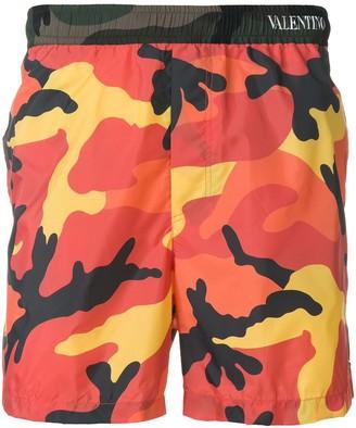 Valentino CamouShuffle swim shorts