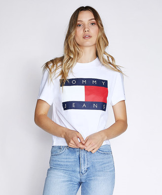 Tommy Jeans TJW Tommy Flag T-Shirt Classic White