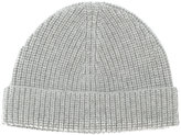 Lanvin ribbed beanie hat - men - Cashmere - One Size