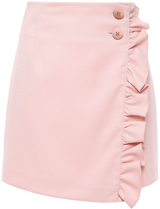 Baum und Pferdgarten Sangita Ruffled Twill Mini Wrap Skirt