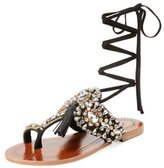 Antik Batik Betsy Embellished Lace-Up Sandal