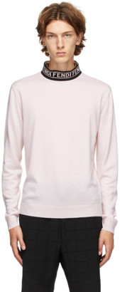 Fendi Pink Forever Mock Neck Sweater