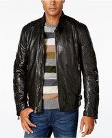 Andrew Marc Men's Boarder Evergrain Leather Moto Jacket