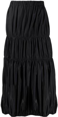 Yohji Yamamoto Pre Owned 2000s gathered midi skirt