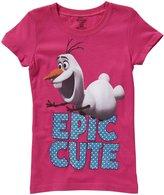 "Disney Frozen"" Olaf Epic Cute Tee (Kid) - Raspberry-6X"