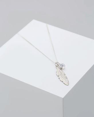 Elli Jewelry Necklace 925 Sterling Silver Swarovski Crystal Feather